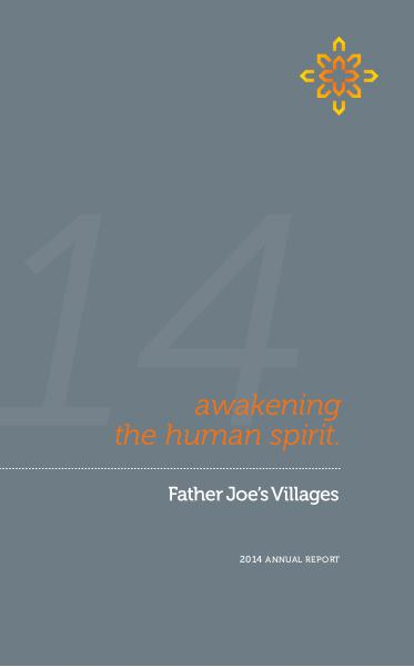 Father Joe's Villages 2014 Annual Report (1)