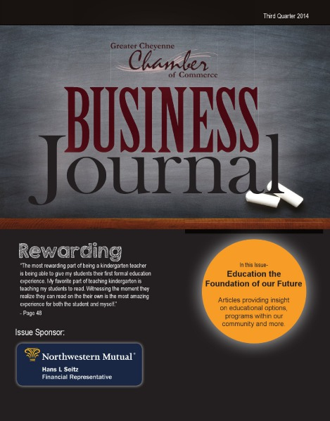 Greater Cheyenne Chamber of Commerce Business Journal Q3 2014