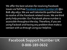 Facebook Technical Support Number