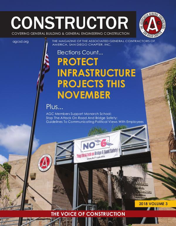 AGC San Diego CONSTRUCTOR Magazine 2018 - Volume 3 2018 Volume 3