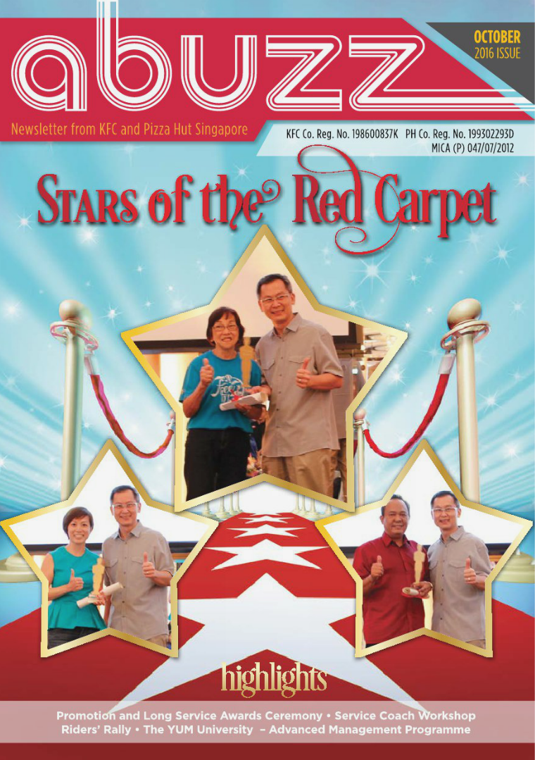Stars of the RED CARPET Quarter 3 : October Issue