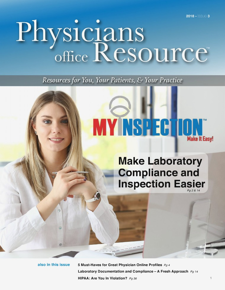 Physicians Office Resource Volume 12 Issue 3