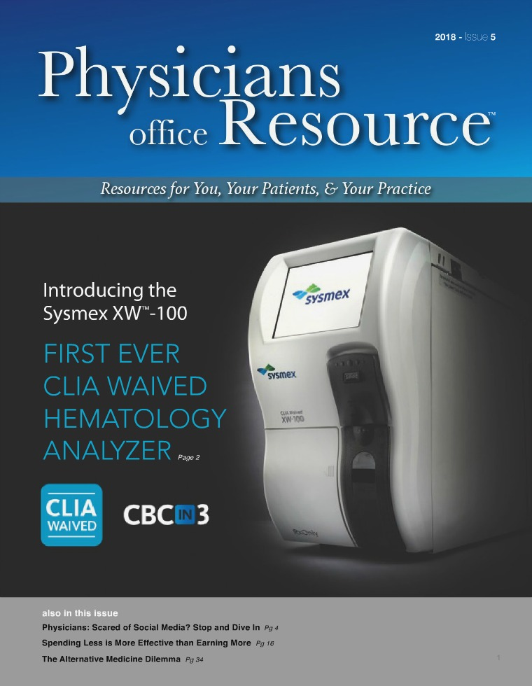 Physicians Office Resource Volume 12 Issue 5