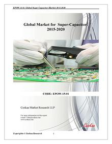 Supercapacitor Market to reach $4.8 billion by 2020