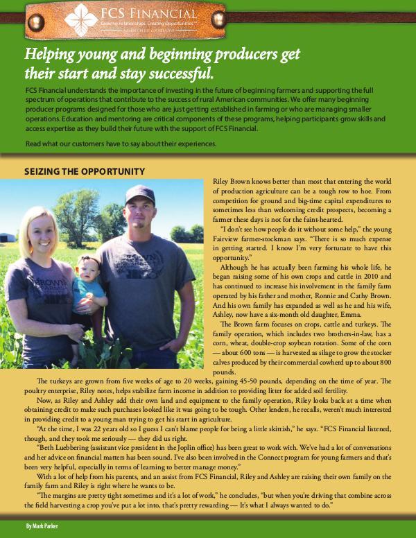 Testimonials Young, Beginning, Small Farmers Fall 2016