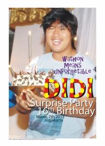 DIDI's 16th Surprise Birthday Party 7 Maret 2013