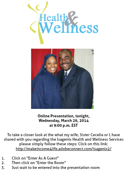 Invitation to our Online Webinar tonight 1 Issue 1