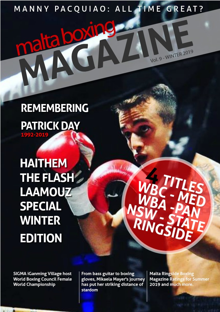 Malta's Boxing Magazine Issue 9 Special Edition Haithem Laamouz