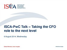 ISCA - PwC event: Taking the CFO role to the next level