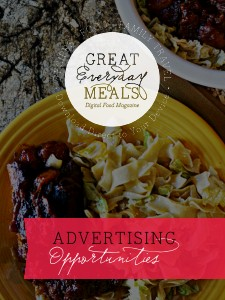 Great Everyday Meals Magazine Media Kit Sep 2013