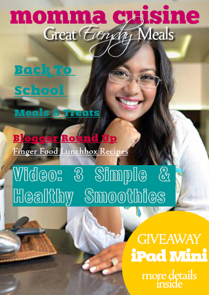 Momma Cuisine | Great Everyday Meals Mag Back To School 2014