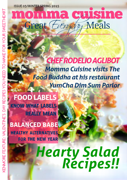 Momma Cuisine | Great Everyday Meals Mag Jan - March 2015