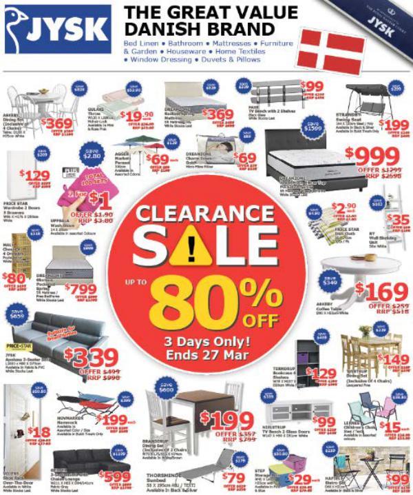 JYSK Clearance Sale