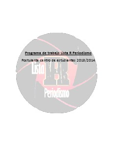 Programa Lista R Periodismo Ufro Nov. 2013