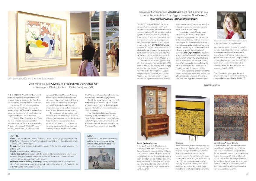 Preview - Olympia International Arts & Antiques