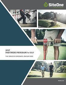 2017 Partners Program for Golf Brochure