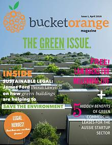 BucketOrange, The Green Issue, Vol 1, April 2016