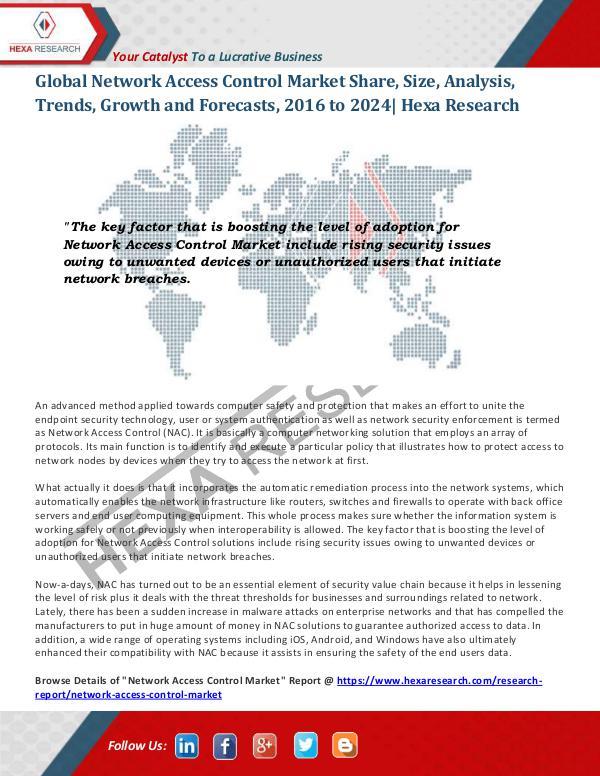 Technology Network Access Control Market Analysis, 2024