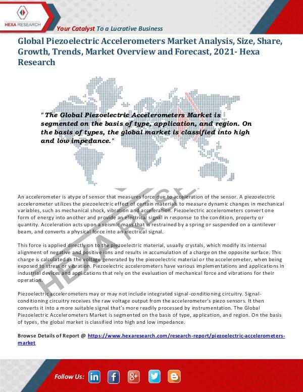 Piezoelectric Accelerometers Market Trends