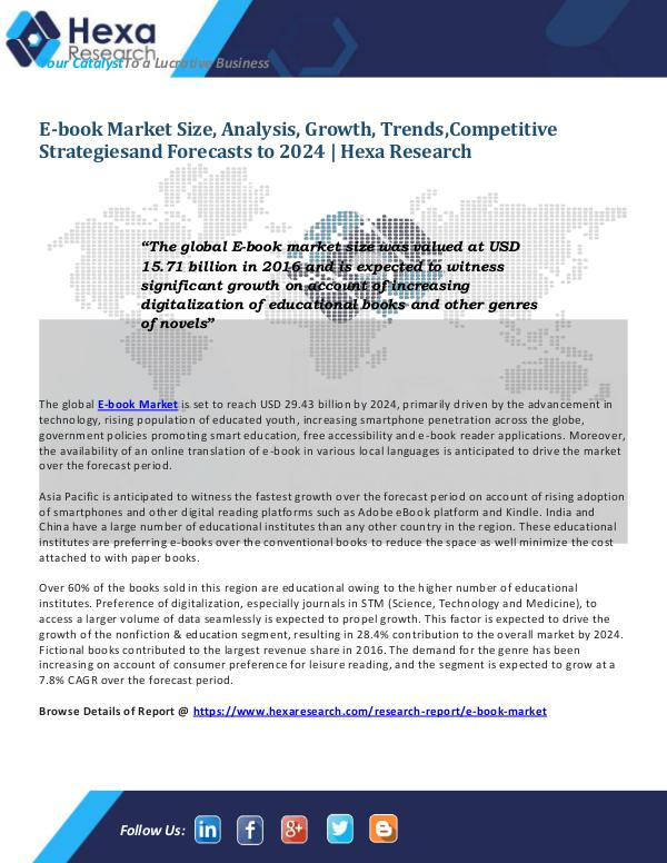 Technology E-book Market : Key Industry Trends