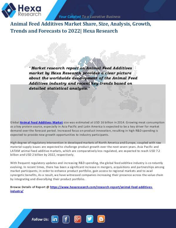 Animal Feed Additives Market Trends