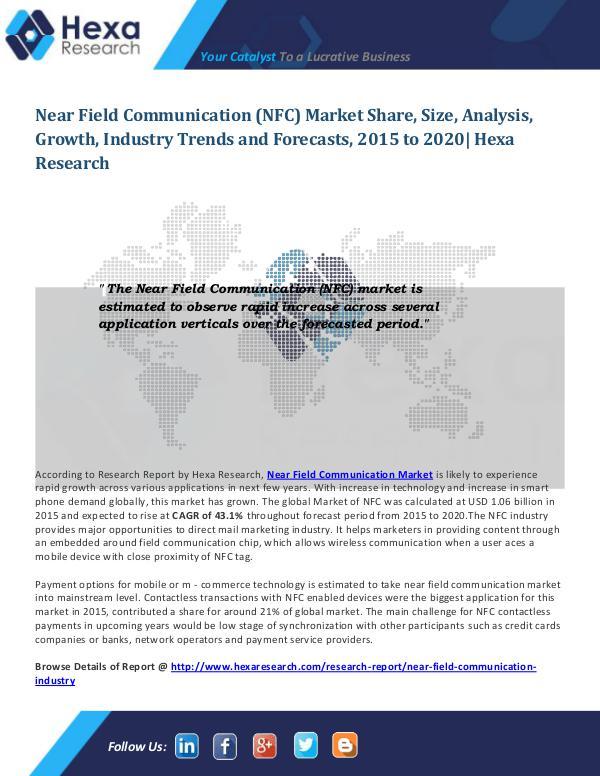 Technology Near Field Communication Market Trends