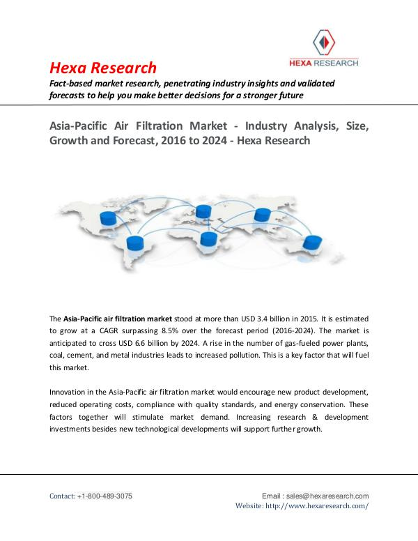 Asia-Pacific Air Filtration Market Analysis Report