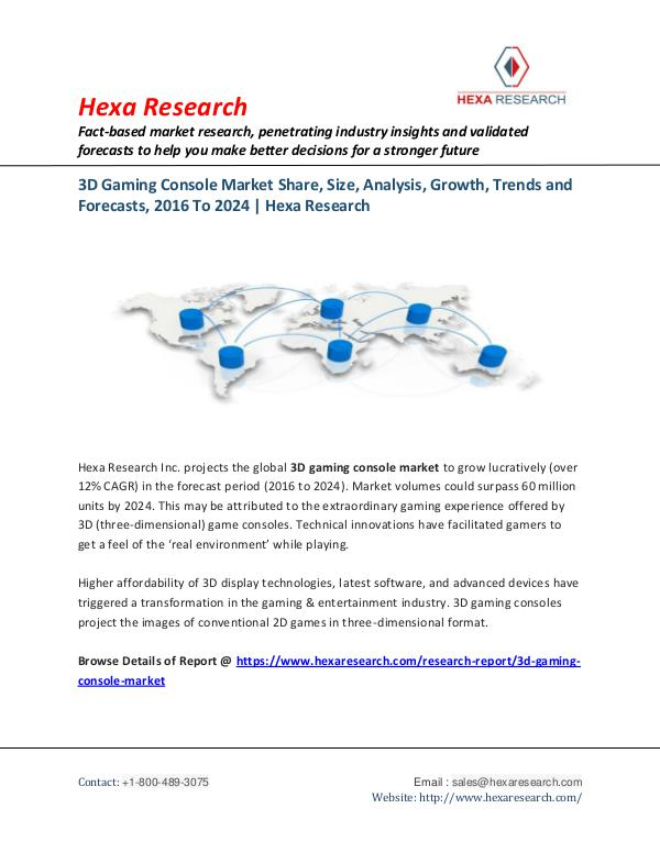 Technology 3D Gaming Console Market Share and Analysis Report