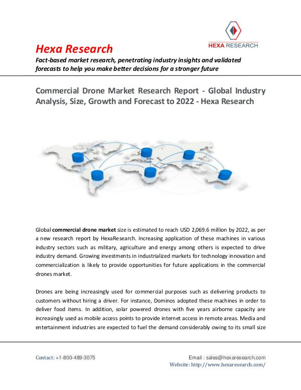 Semiconductors & Electronics Industry Commercial Drone Market Research Report, 2022