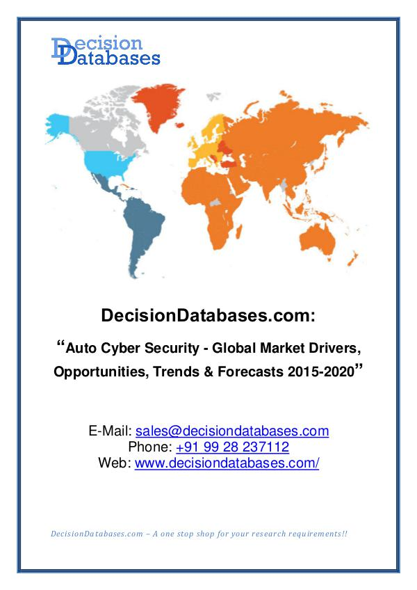 Market Report - Auto Cyber Security Share and Forecast Analysis