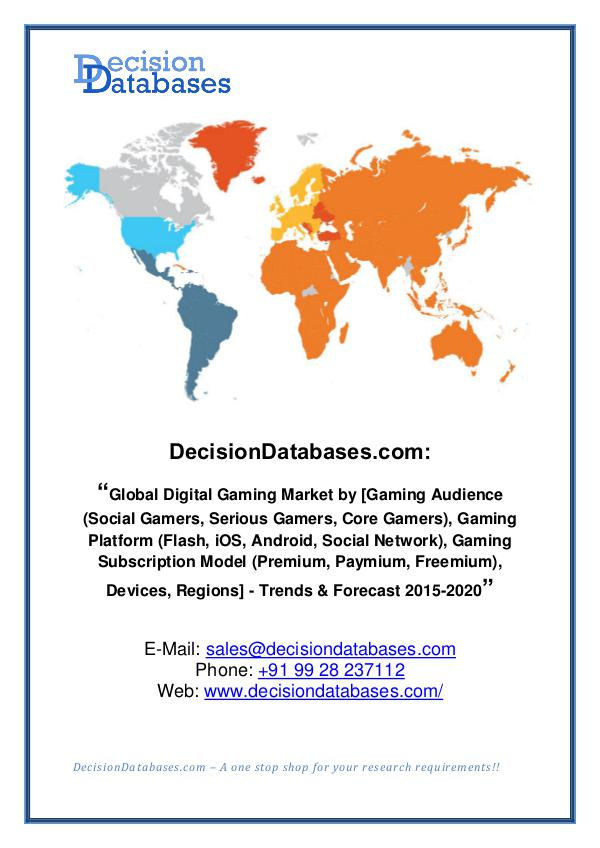 Global Digital Gaming Market Manufactures and Key