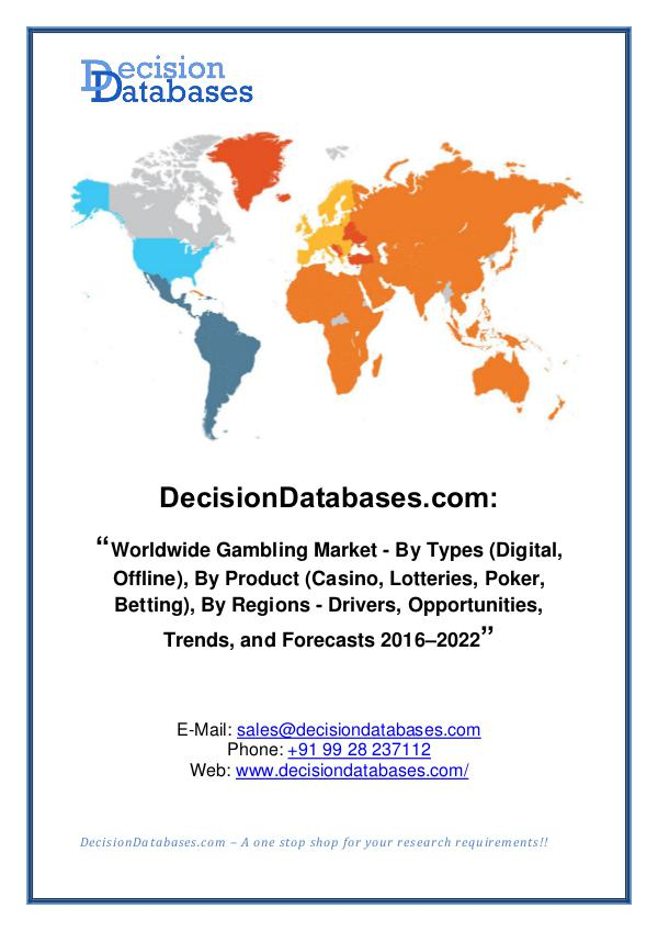 Gambling Market Share and Forecast Analysis 2020