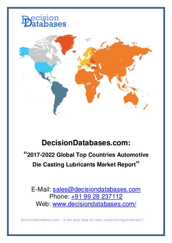 Automotive Die Casting Lubricants Market Analysis