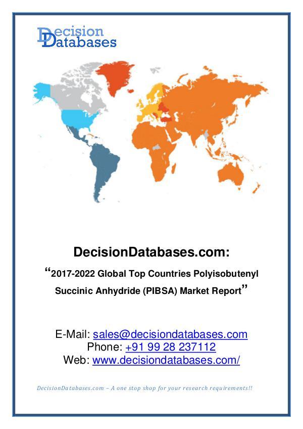 Polyisobutenyl Succinic Anhydride (PIBSA) Market