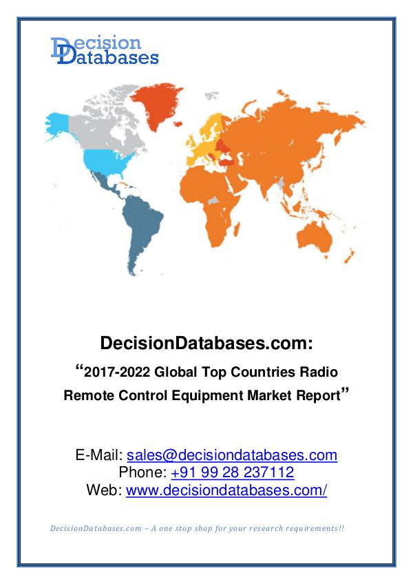 Market Report - Global Radio Remote Control Equipment Industry
