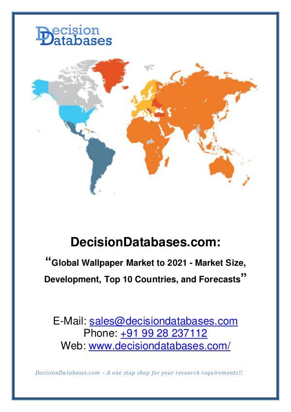 Market Report - Global Wallpaper Market Analysis Report to 2021