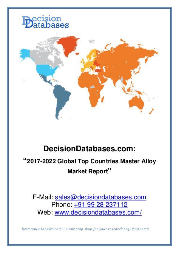 Market Report - Master Alloy Market Analysis Report 2017-2022
