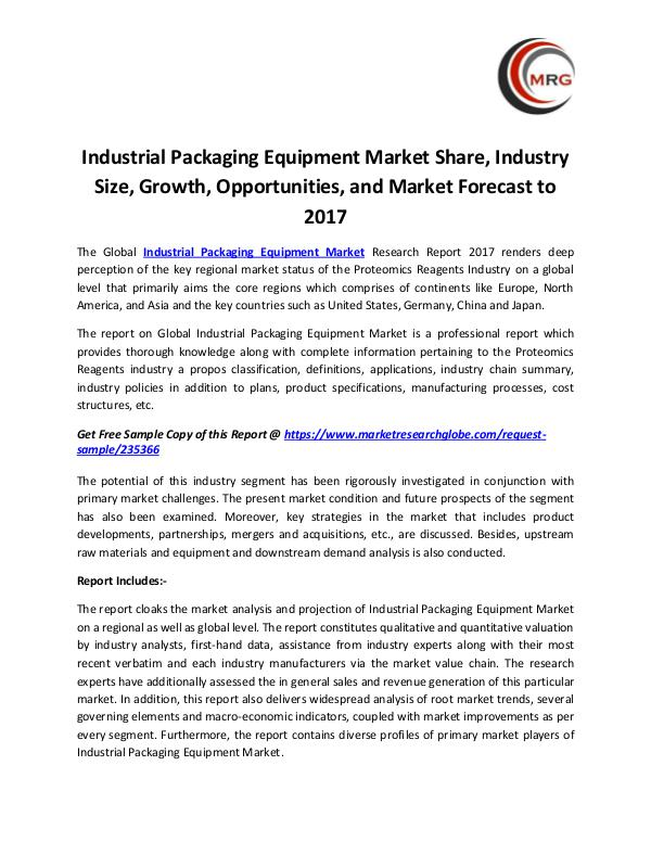 QY Research Groups Industrial Packaging Equipment Market Share, Indus