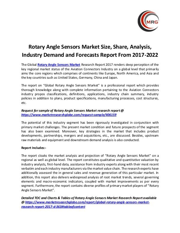 QY Research Groups Rotary Angle Sensors Market Size, Share, Analysis,
