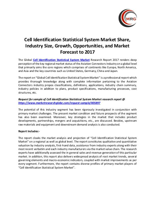 QY Research Groups Cell Identification Statistical System Market Shar
