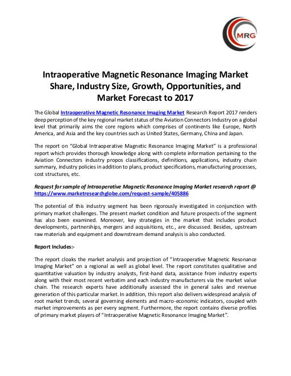 QY Research Groups Intraoperative Magnetic Resonance Imaging Market S