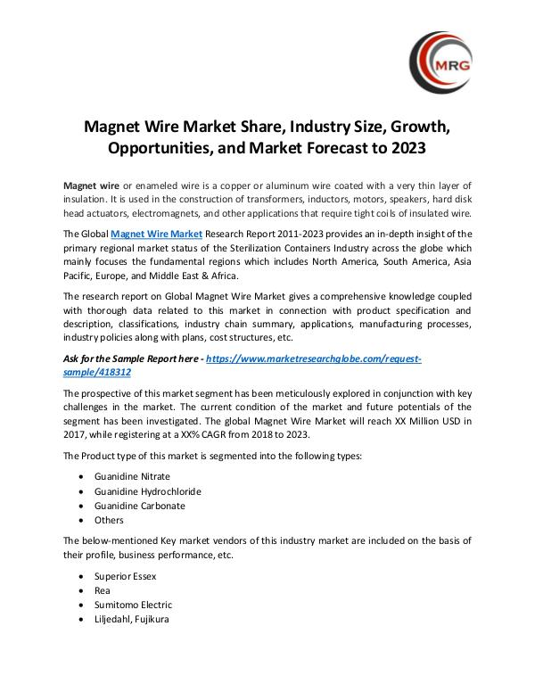 QY Research Groups Magnet Wire Market Share, Industry Size, Growth, O