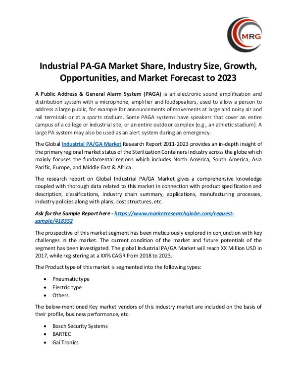 QY Research Groups Industrial PA-GA Market Share, Industry Size, Grow