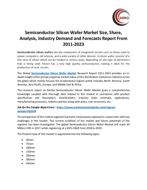 QY Research Groups Semiconductor Silicon Wafer Market Size, Share, An