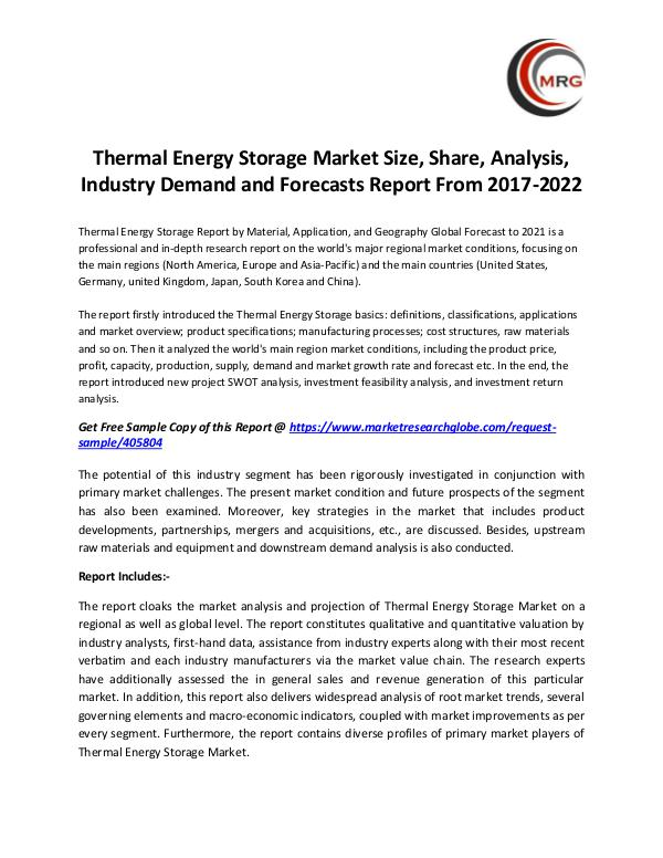 QY Research Groups Thermal Energy Storage Market Size, Share, Analysi