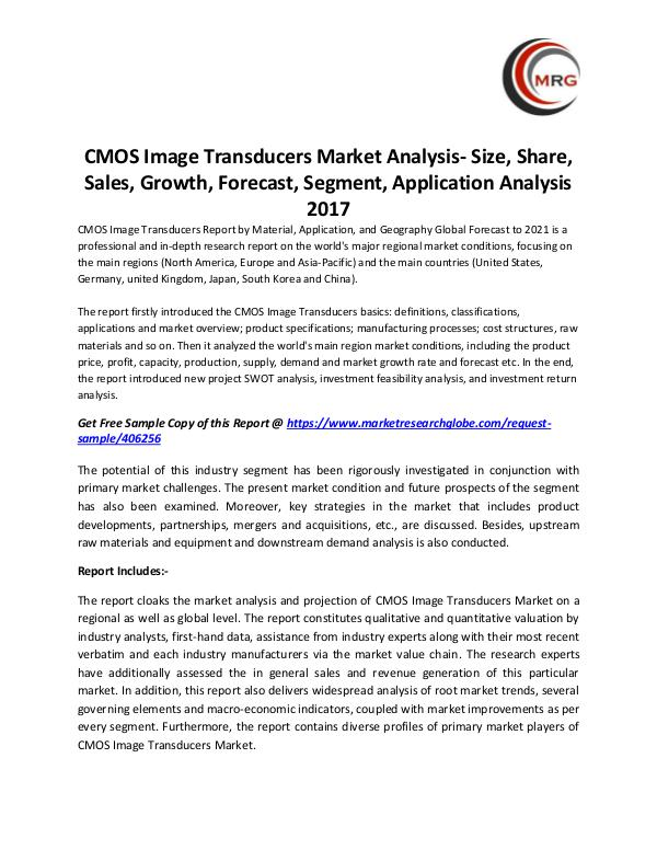 QY Research Groups CMOS Image Transducers Market Analysis- Size, Shar