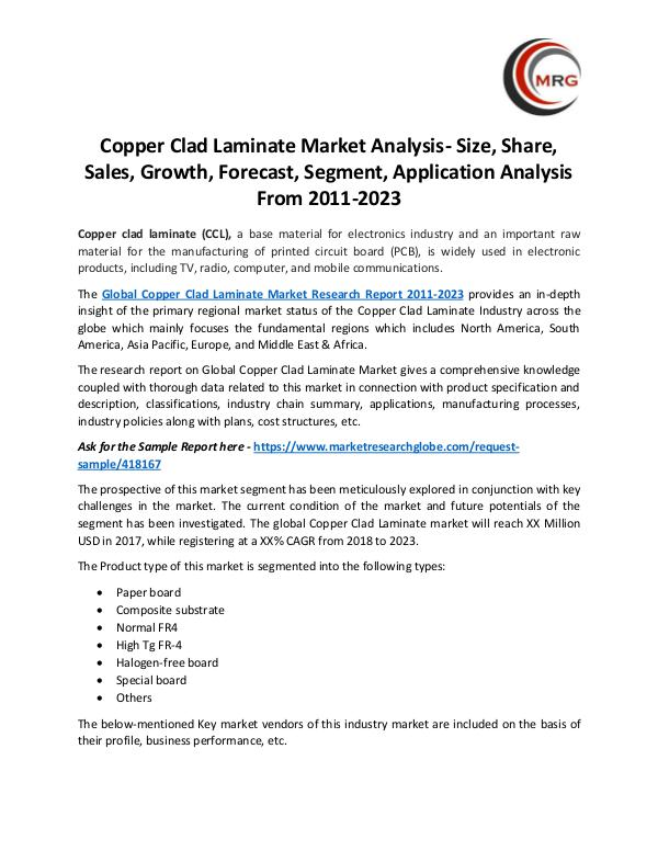 QY Research Groups Copper Clad Laminate Market Analysis- Size, Share,