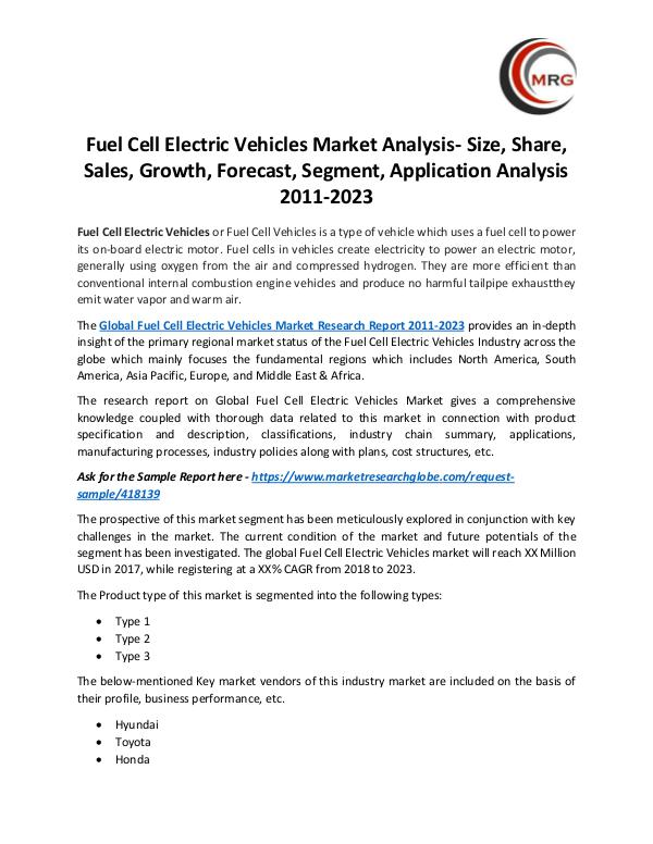 QY Research Groups Fuel Cell Electric Vehicles Market Analysis- Size,