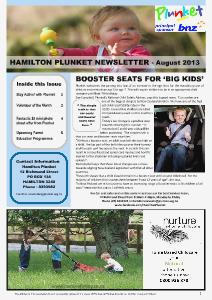 Hamilton Plunket Newsletter August 2013