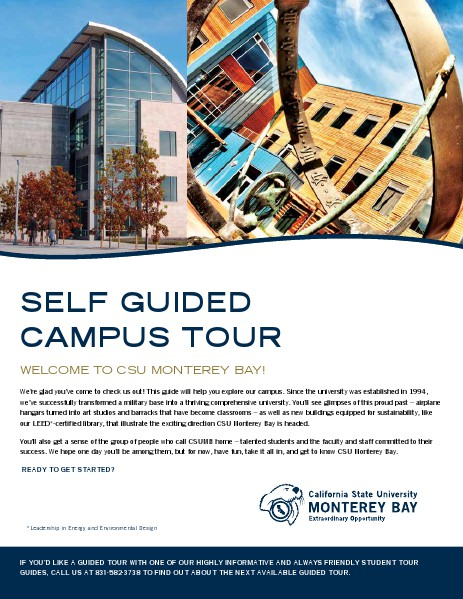 Self-Guided Campus Tour